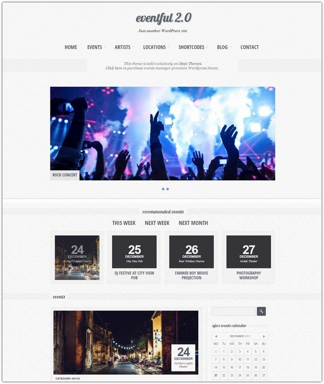 Eventful an Events Manager WordPress Responsive Theme