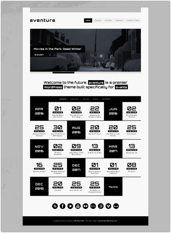 Eventure Responsive Events WP Theme
