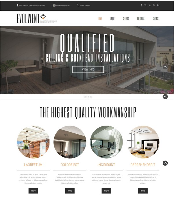 Evolwent Website Template