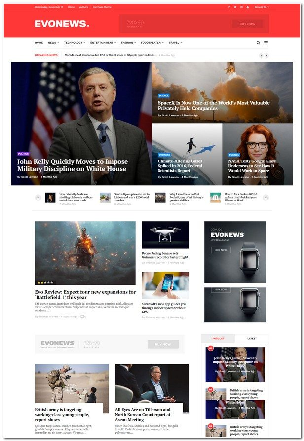 Evonews - News/Magazine WordPress Theme