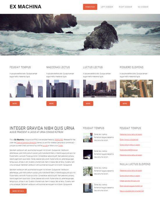 Ex Machina Free Responsive HTML5 CSS3 Template