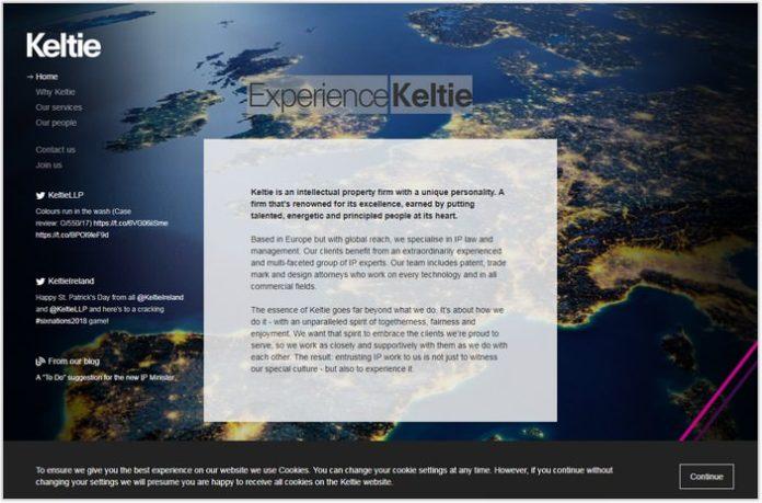 Experience Keltie- Single Page Examples