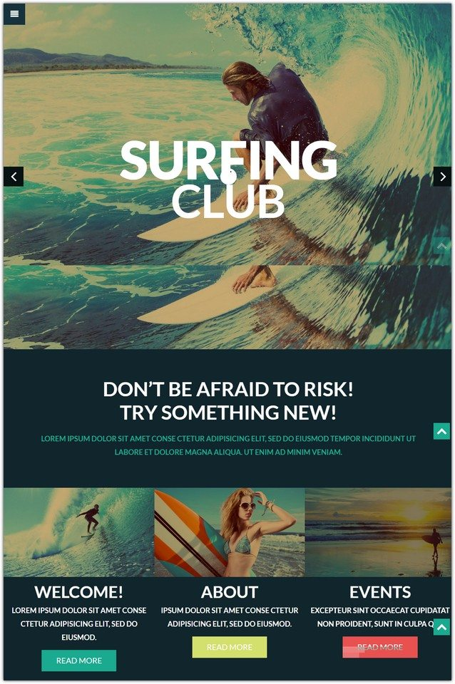 Extreme Sports Club WordPress Theme