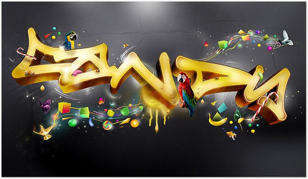 Eyecandy 3D Typography