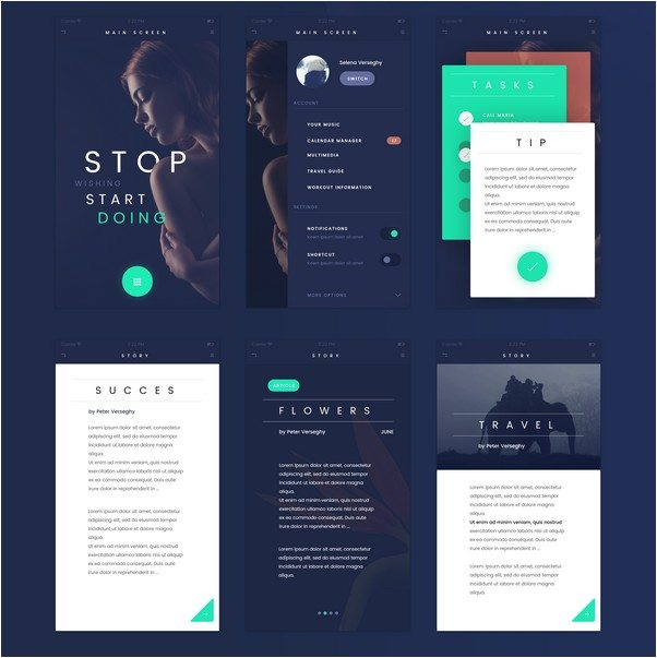 FADE APP UI KIT Freebies