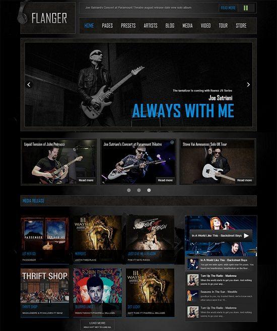 FLANGER – Responsive Joomla Music & Bands Template