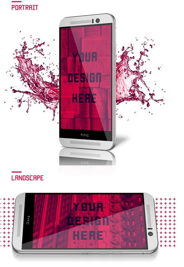 FREE HTC ONE M9 Mock Up