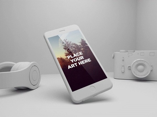 FREE IPHONE 6 PLUS PLAYFUL PSD MOCKUPS