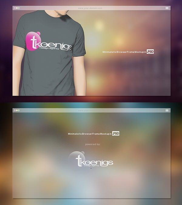 FREE Minimalistic Browser Frame Mockup