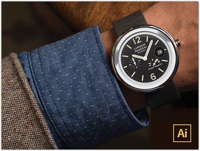 [FREE] Moto360 Vector Watchface