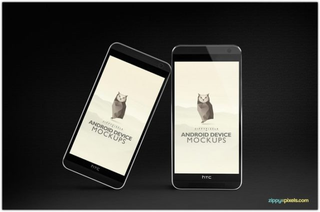 FREE PSD ANDROID MOCKUPS – HTC ONE M8