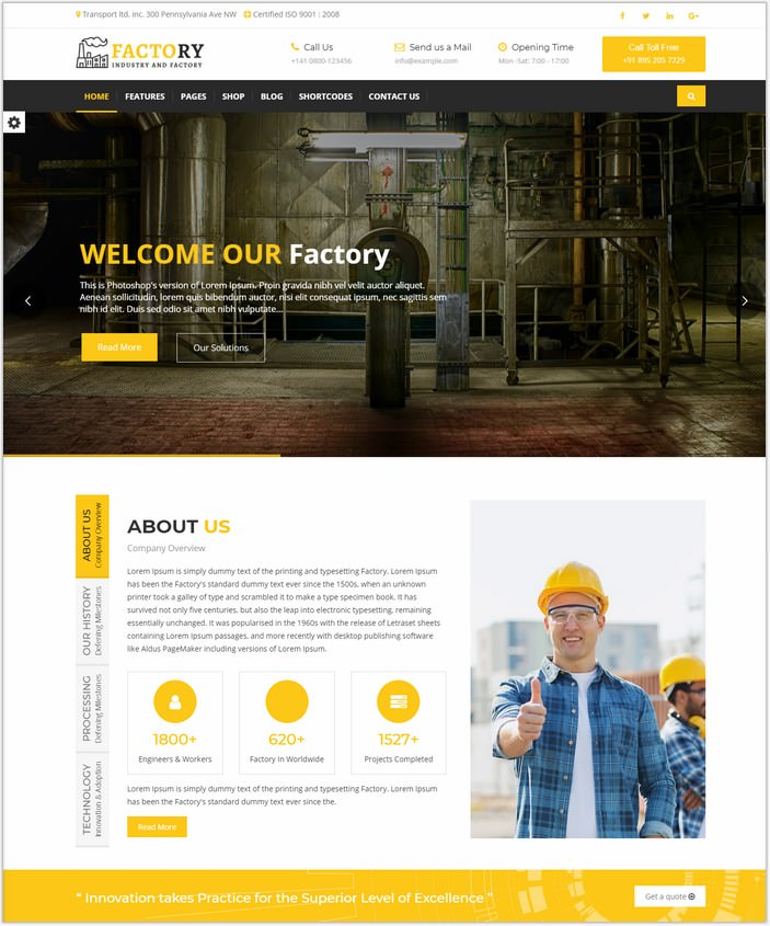 Factory Ajax Website Template