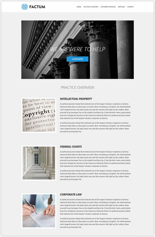 Factum WordPress theme