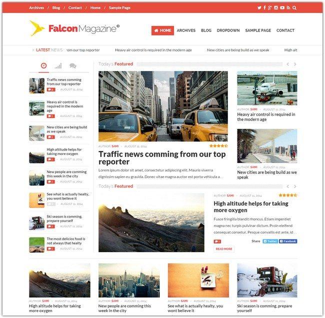 Falcon - Responsive WordPress Magazine Theme