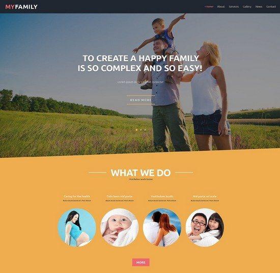 Family Center Free Joomla Template