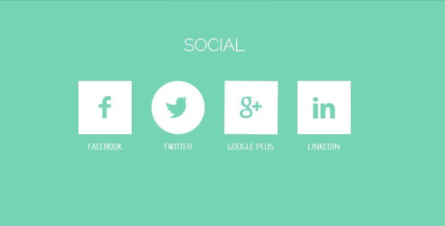 Fancy Flat Social Button Animation