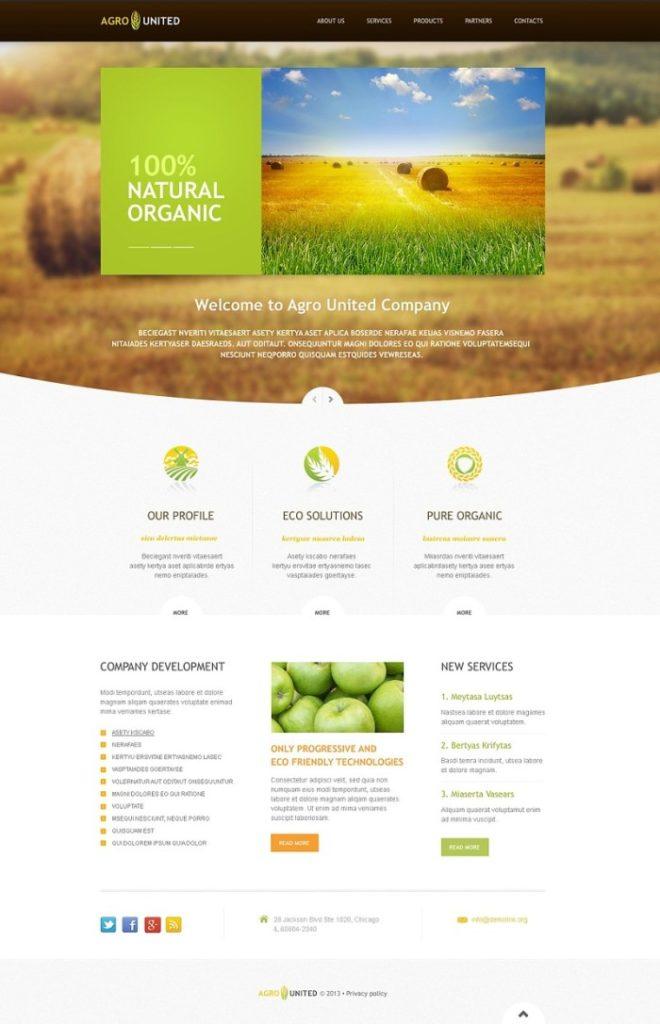 Farm Responsive Website Template