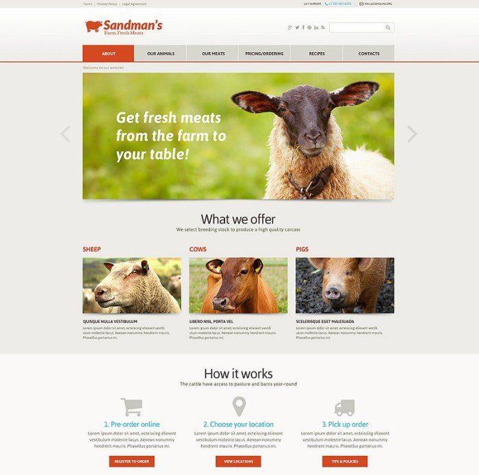 Farm Responsive Website Templatemonster