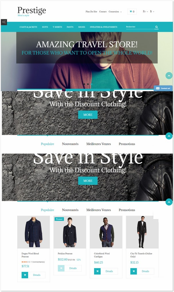Fashion Store Free Prestashop Theme