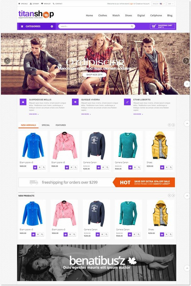 Fashion Store Mega Mall Responsive PrestaShop Themes