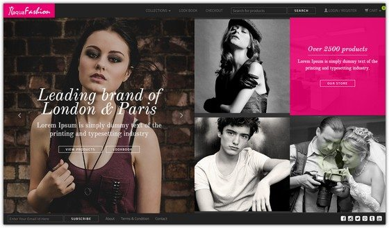 Fashion shop template