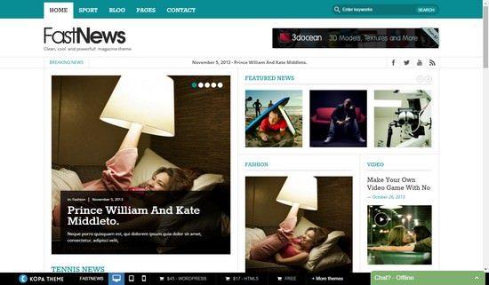 Fast News- Magazine WordPress theme