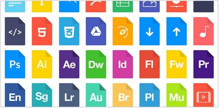 File Types Icon Set