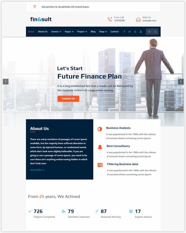 FinSult - A Business Consulting and Finance WordPress Theme