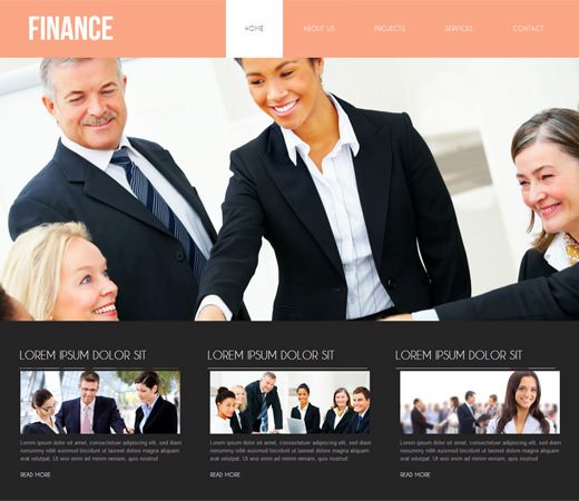 Finance Corporate Business Mobile website Template