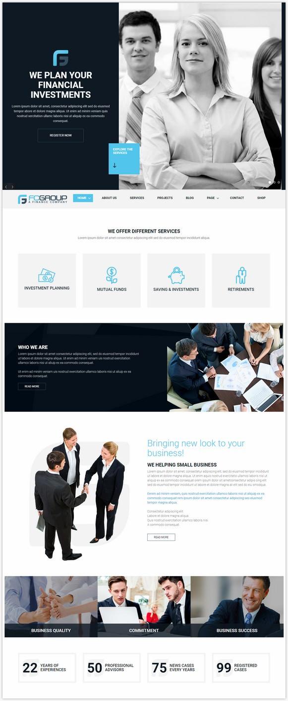 Finance Group - Corporate WordPress Theme
