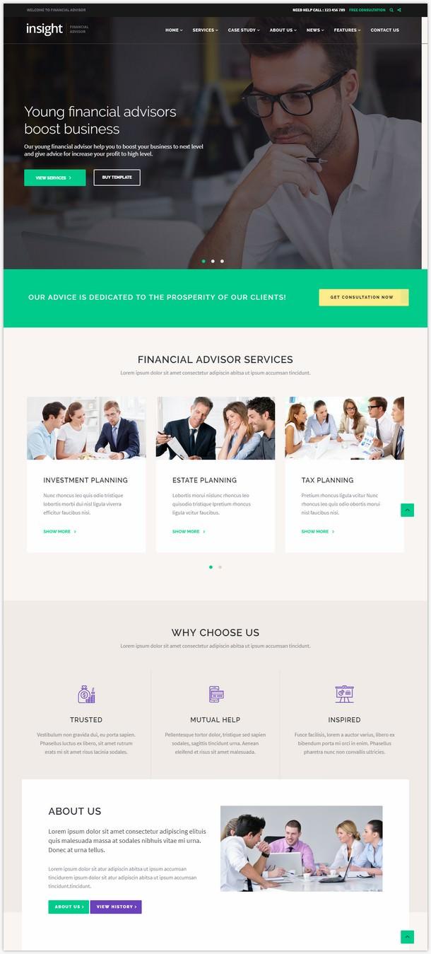 Financial Advisor, Business WordPress Theme