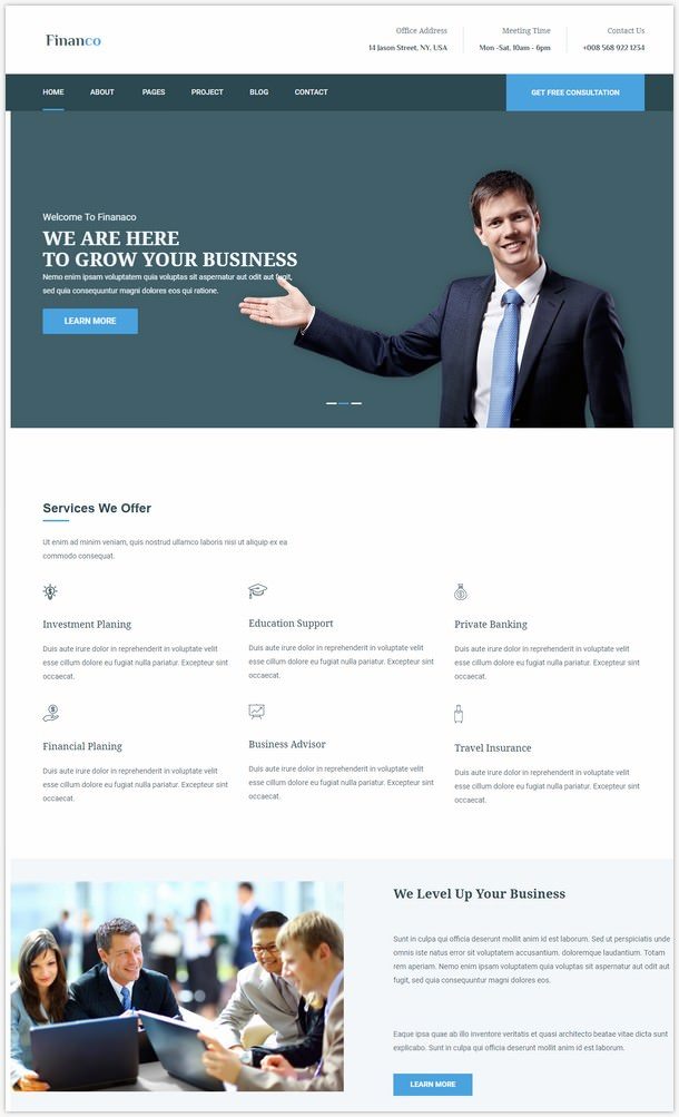 Financo - Finance & Investment WordPress Theme