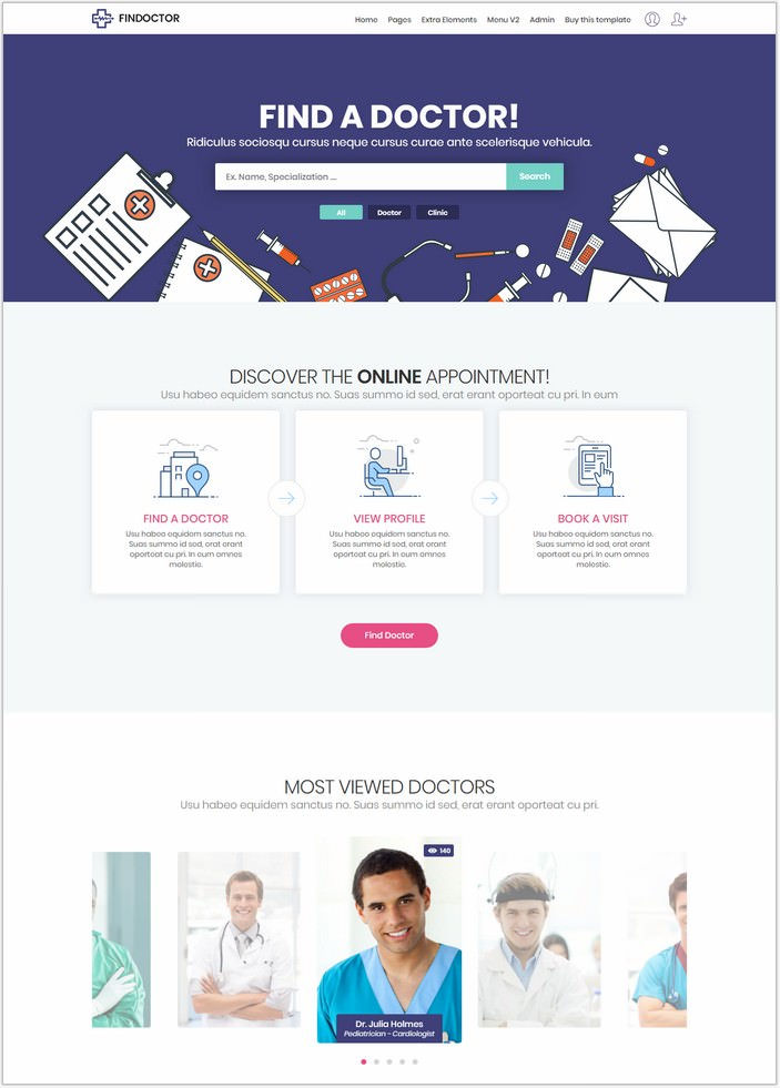 Find - Doctors Directory Template
