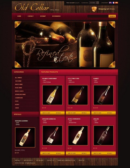 Fine Wine PrestaShop Theme
