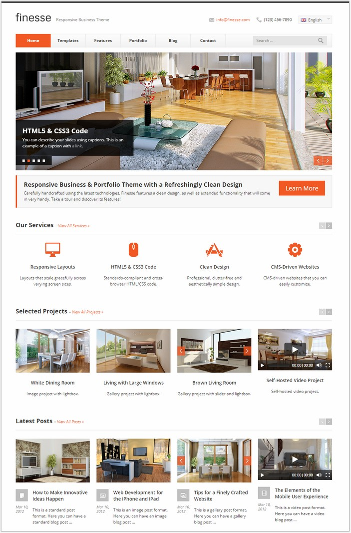 Finesse - HTML Template