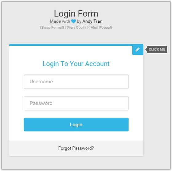 Flat Login Form 2.0