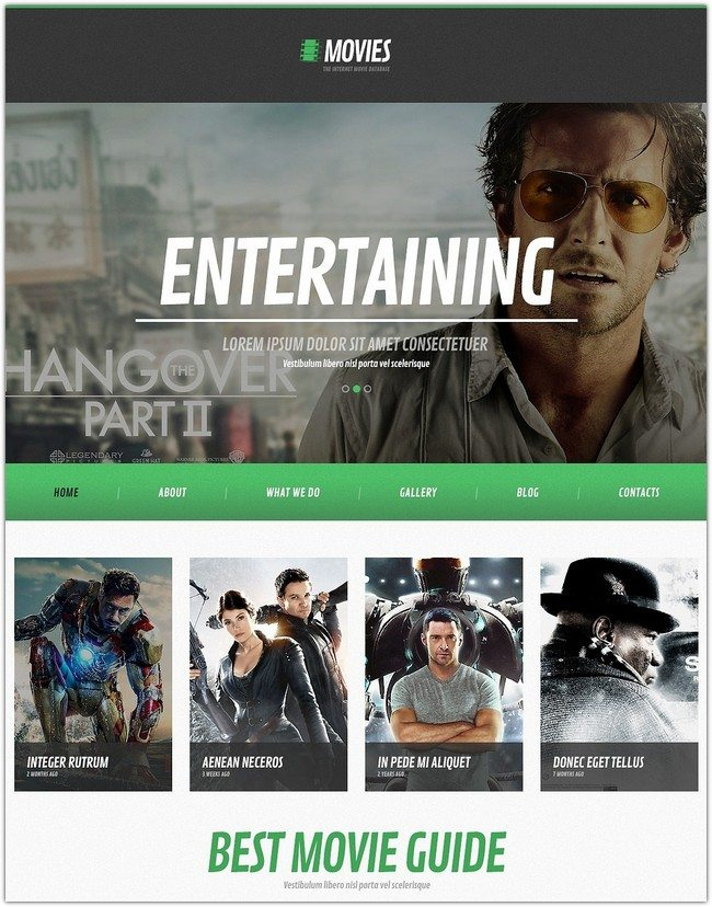 Flat Movie WordPress Theme