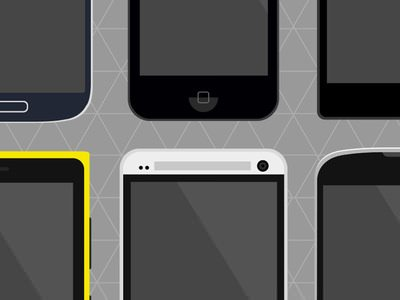 Flat Phones – PSD Freebie