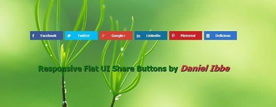 Flat UI Share Buttons