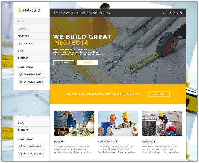 Flatbuild - Construction Drupal Theme