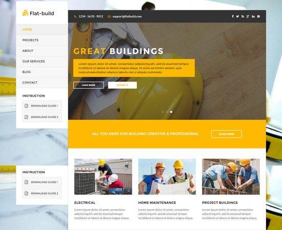 Flatbuild - HTML Construction Business Template