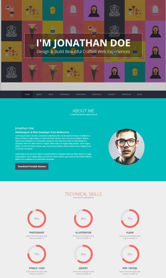 Flato – vCard, Resume, Personal WordPress Theme