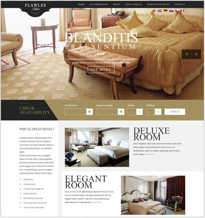 Flawles - Online Hotel Booking Template