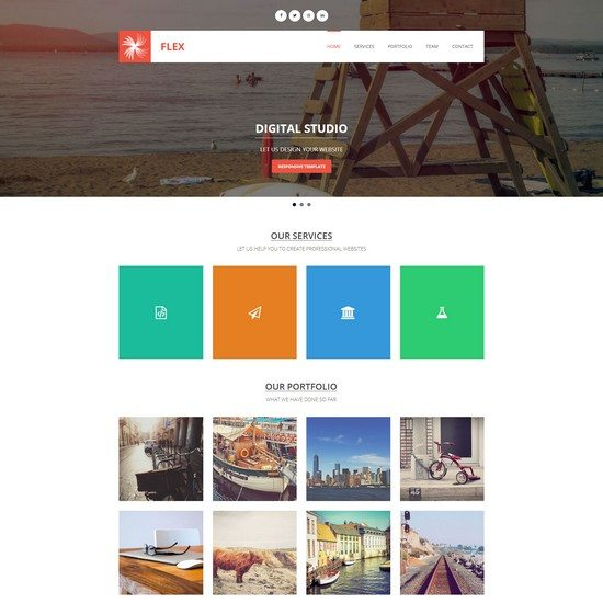 Flex - Free Responsive Template by template