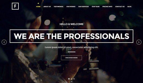 Flip – Flipping Page & One Page WordPress Theme