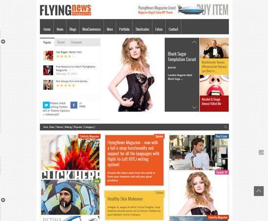 FlyingNews – Responsive WordPress Magazine
