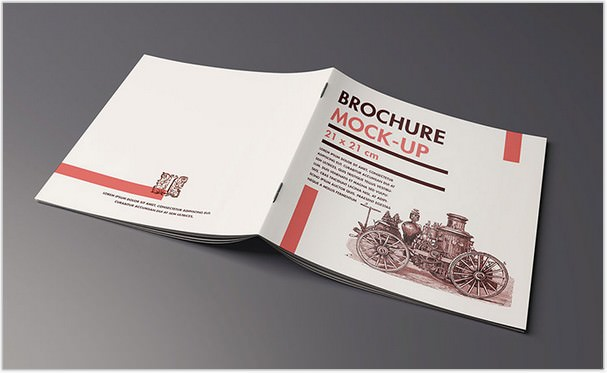 Folder Brochure mockup