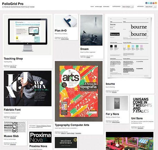 FolioGrid Pro A Responsive WordPress Portfolio Theme