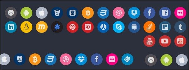 Font Awesome Colored - Brand And Social Icons