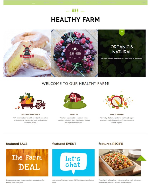 Food & Agriculture Site Template